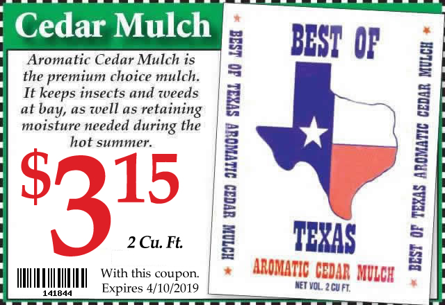 Cedar Mulch Coupon